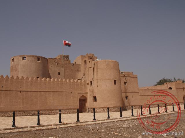 Het Jabrin Castle in Oman is een mooi gerestaureerd woonfort