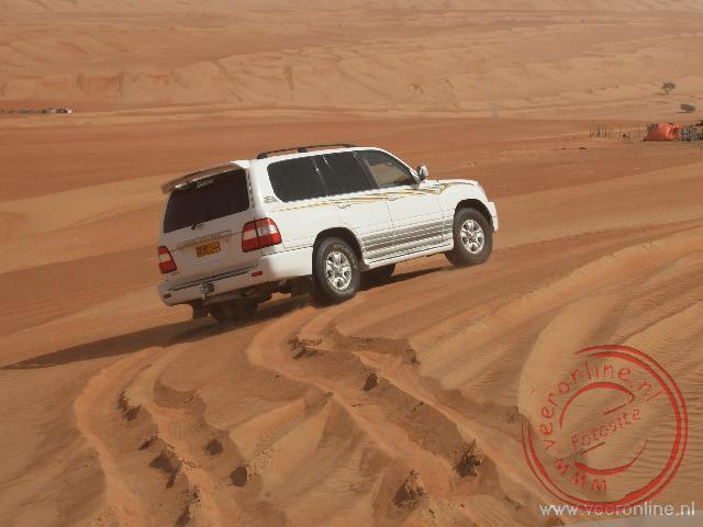 Dune Bashen in de woestijn van Oman