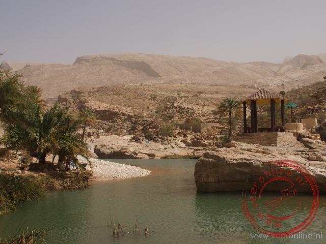 De Wadi Bani Khalid is een prachtige plek om te zwemmen