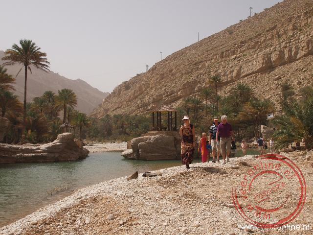 De paradijselijke oase Wadi Bani Khalid