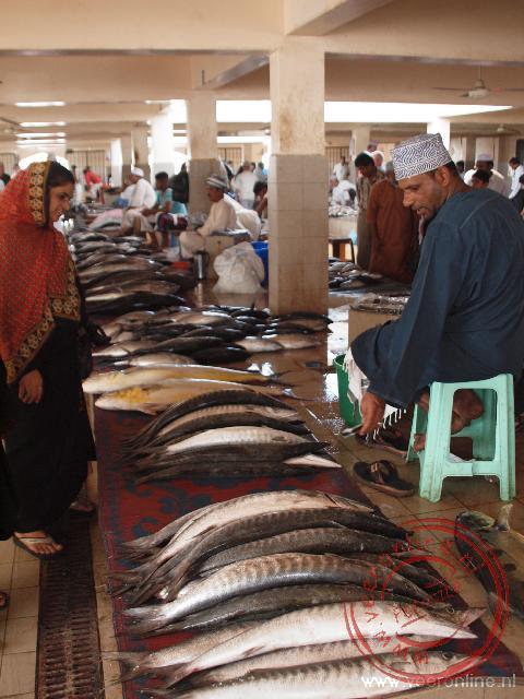 De vismarkt in Mutrah een voorwijk van Muscat