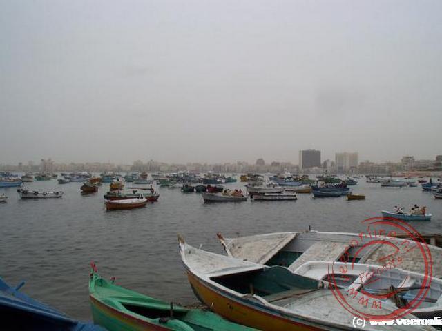 De haven van Alexandrië aan de Middenlandse Zee