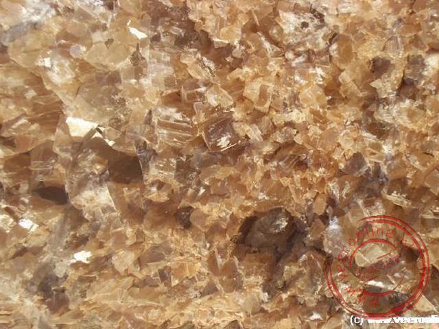 Het kwarts glinstert als kristal