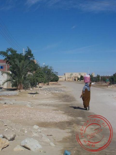 Het oasedorpje Farafra