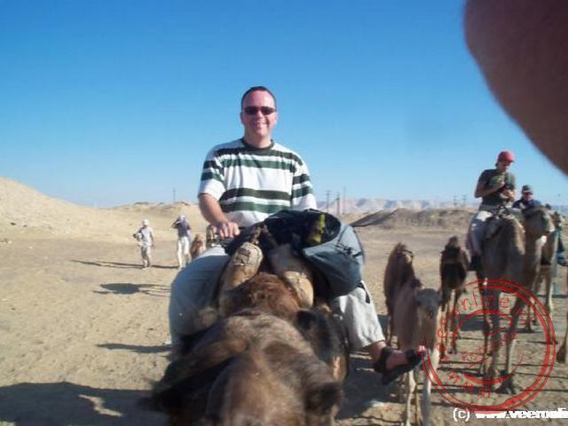 Ronald op de kameel