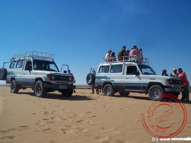 De zogenaamde Jeep Safari bracht ons vanaf de oase terug naar de overnachtingsplaats