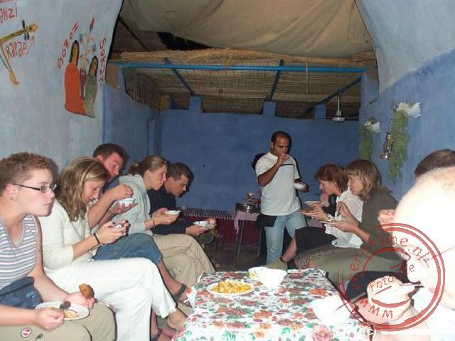 Een diner in het Nubische dorp