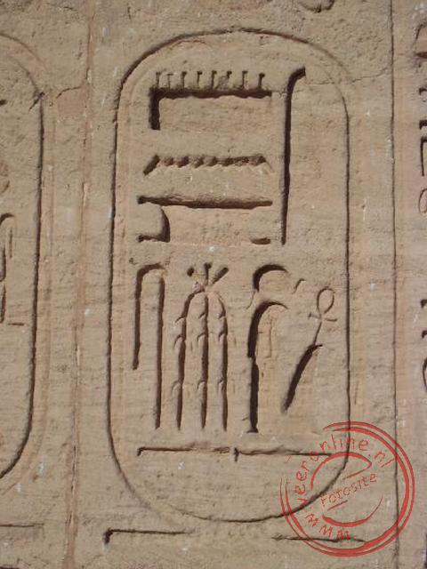 De cartouches van Ramses II