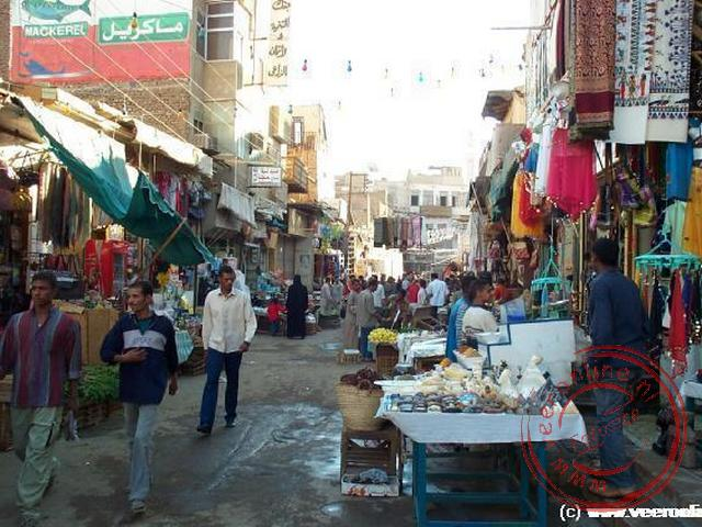 De soek, de markt, van Aswan