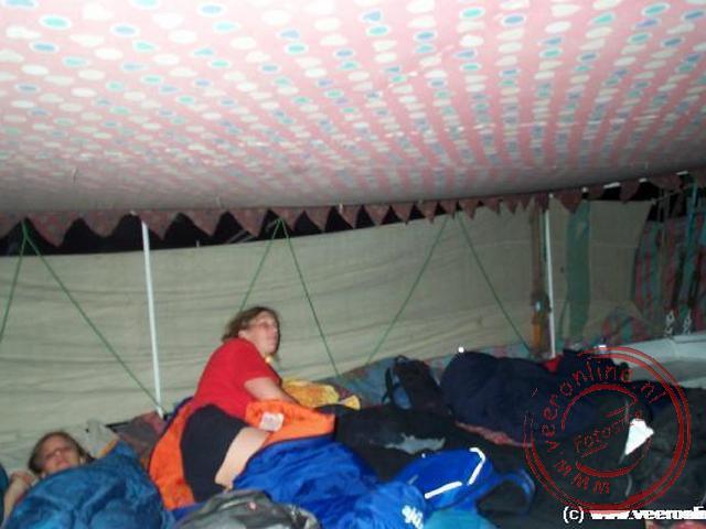 s Nachts sliepen we aan boord van de zeilboot