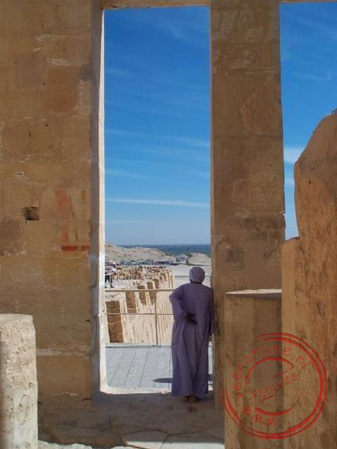 Uitzicht vanaf de tempel van Hatsjepsoet