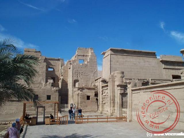 De tempel van Medinat Habu, de tempel van Ramses III