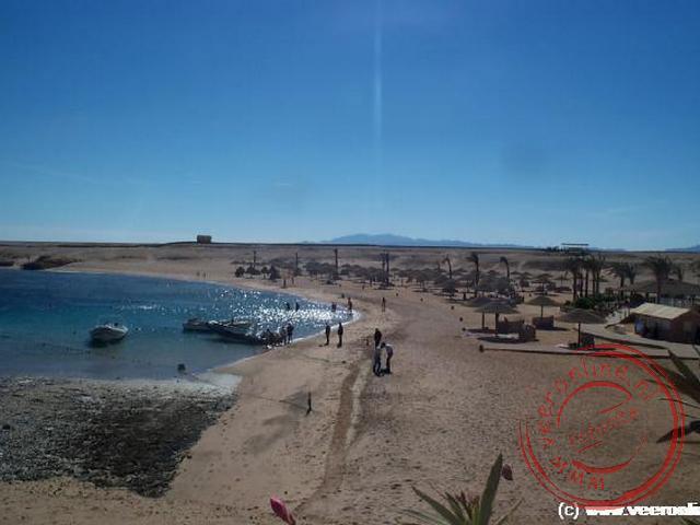 Het strand van het resort Sharm El-Naga
