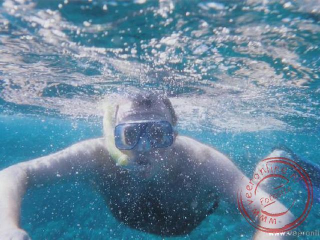 Ronald onder water