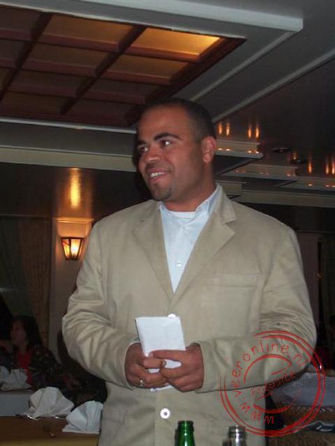 Het afscheid van onze gids Mohammed