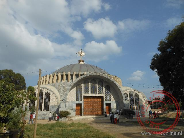 De moderne Our Lady Mary of Zion Kerk in Axum