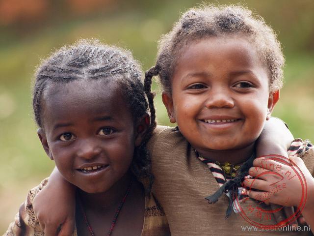 Kinderen van de Dorze stam in Ethiopië