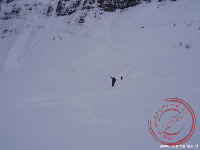 Rob in de sneeuw