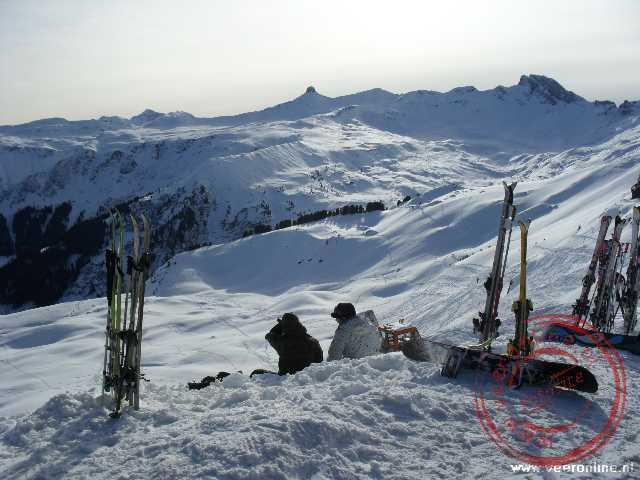 Het skigebied Flumserberg Zwitserland