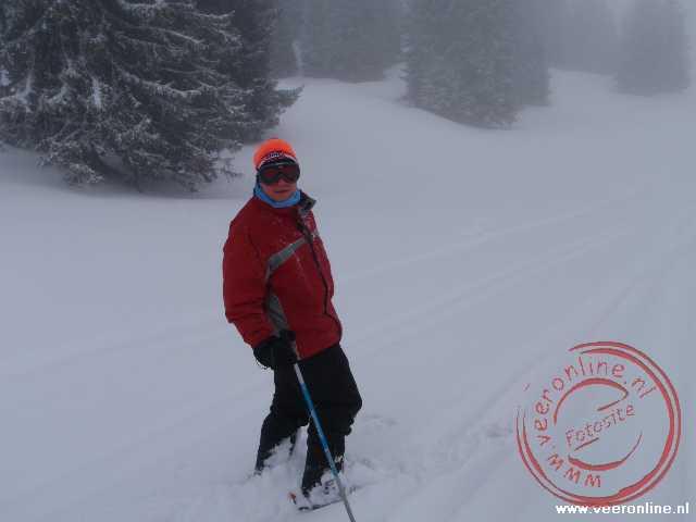 Ron in de verse sneeuw