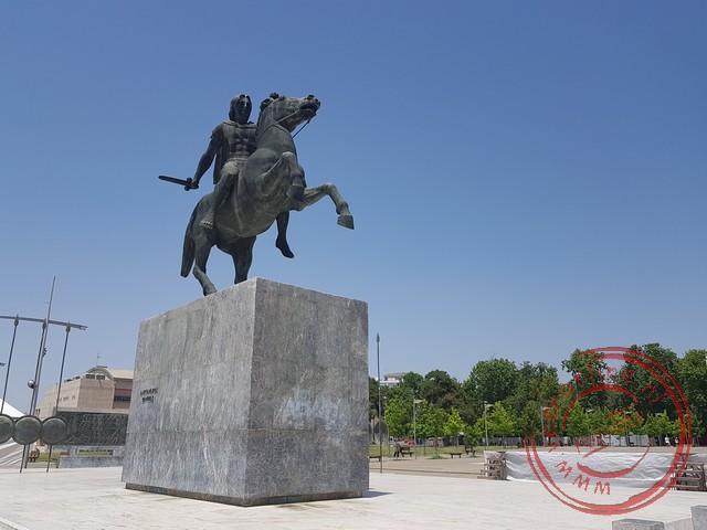 Het standbeeld van Alexander de Grote
