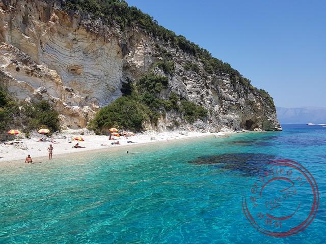 Het prachtige water van de Ionische zee