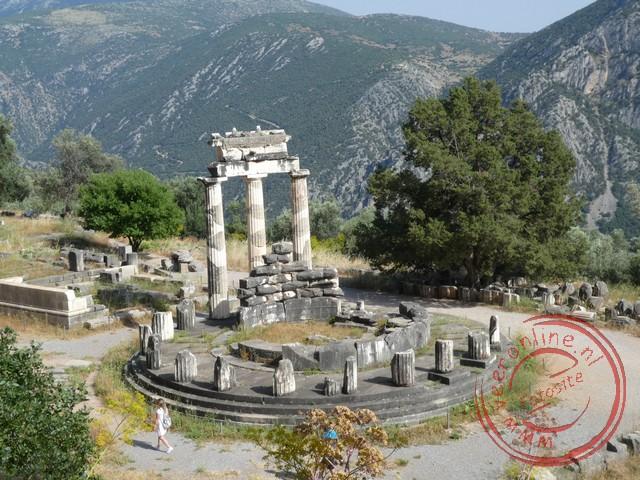 De tempel van Athena Pronaia in Delphi