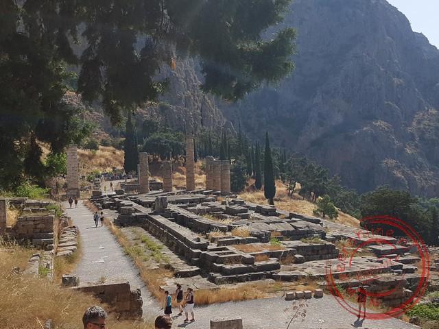 In de tempel van Apollo werd het orakel gesproken
