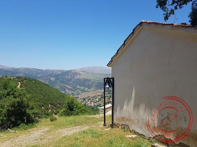 De profeet Elias kerk in de bergen rond Kalavryta