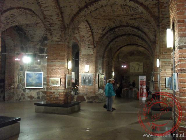 De crypte onder de Domkerk is tegenwoordig een expositieruimte