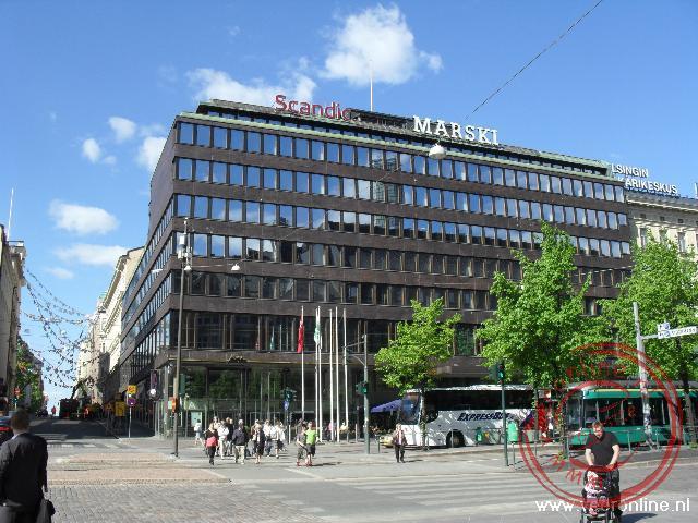 De moderne bankgebouwen in Helsinki