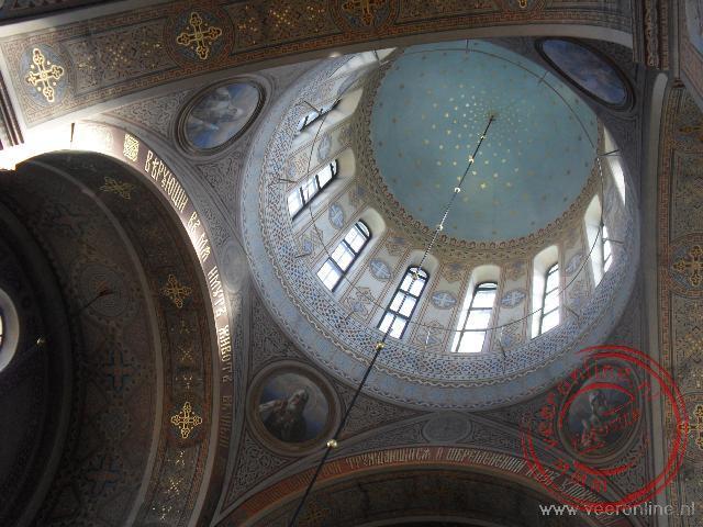 De koepel van de orthodoxe Uspenski kathedraal