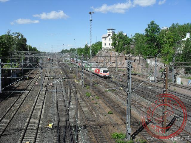 De spoorlijnen nabij het centrale station