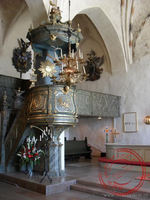 De preekstoel van de kathedraal van Porvoo
