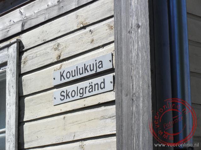 Straatnaambord in Porvoo