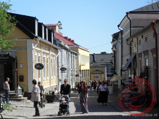 De centrale straat van Porvoo