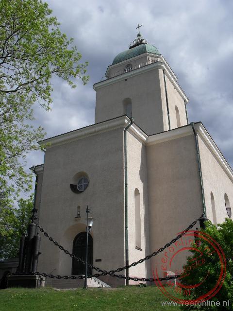 De kerk op het kleine eiland Soumenlinna