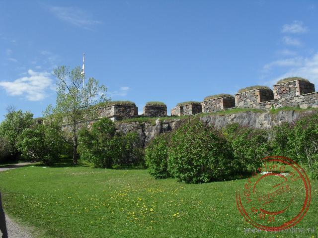 De muren van het fort Soumenlinna