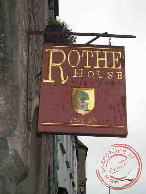 Het uihangbord van het Rothe house