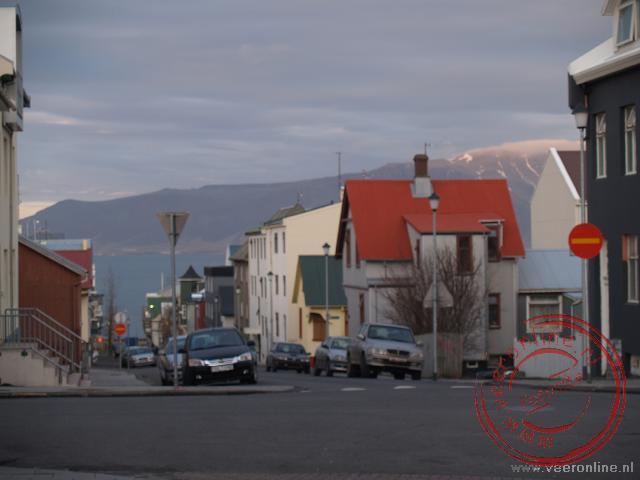 De straat Vitastígur in Reykjavik