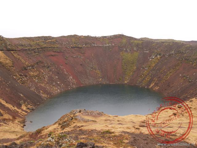 De Karid explosiekrater is 55 meter hoog