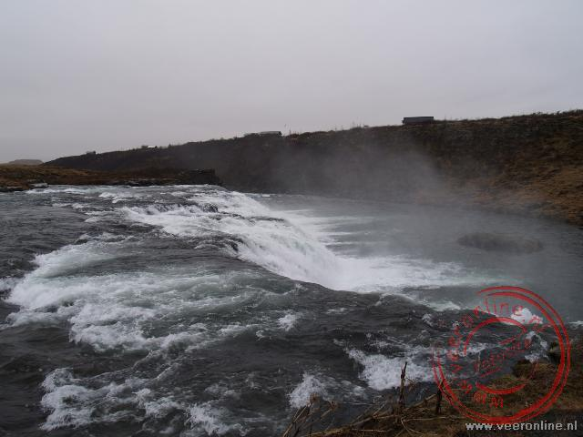 Een waterval in IJsland