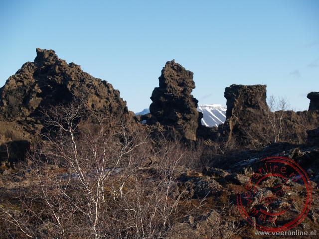 Lavaformaties bij Mývatn