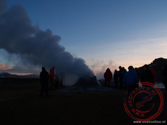 Het geotermische veld van Námafjall