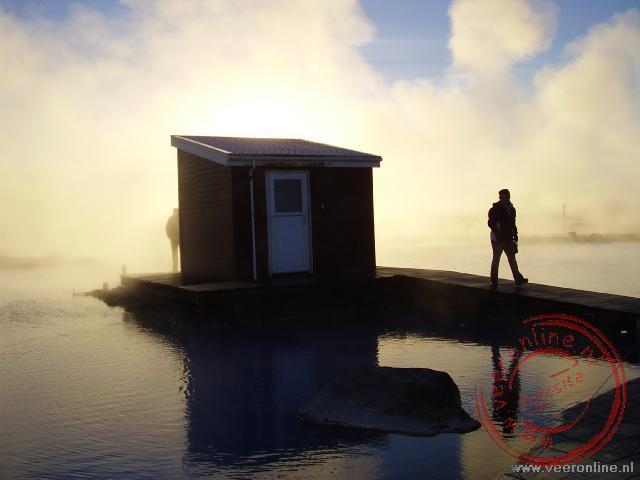 Het Mývatn nature bath wordt verwarmd door een natuurlijke bron