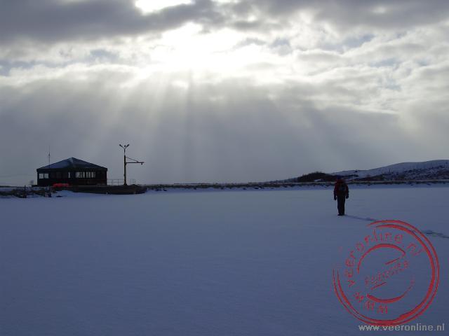 Prachtige winterse plaatjes op het IJsmeer bij Mývatn op IJsland