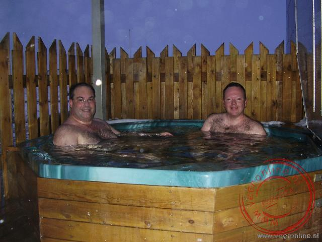 De Hot tub bij het Hotel Mývatn