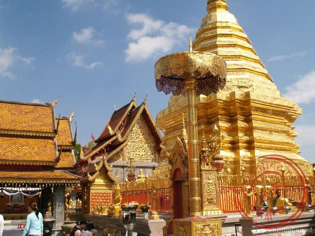 De Wat Doi Suthep tempel is de belangrijkste tempel rond Chiang Mai