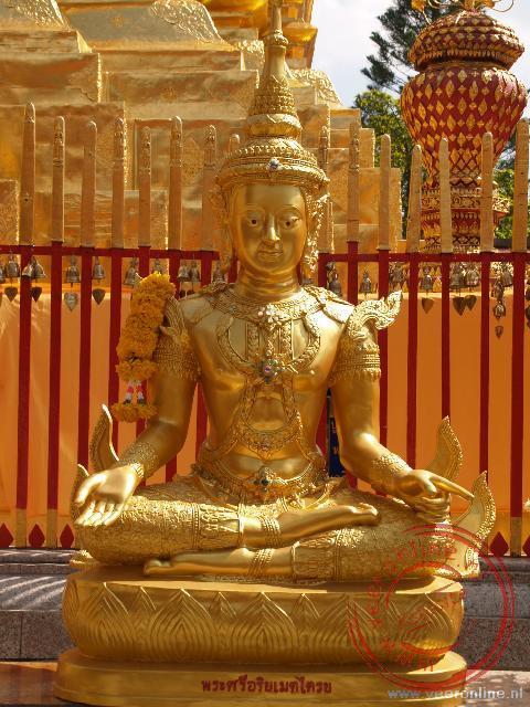 Een Boeddha afbeelding in de Wat Doi Suthep