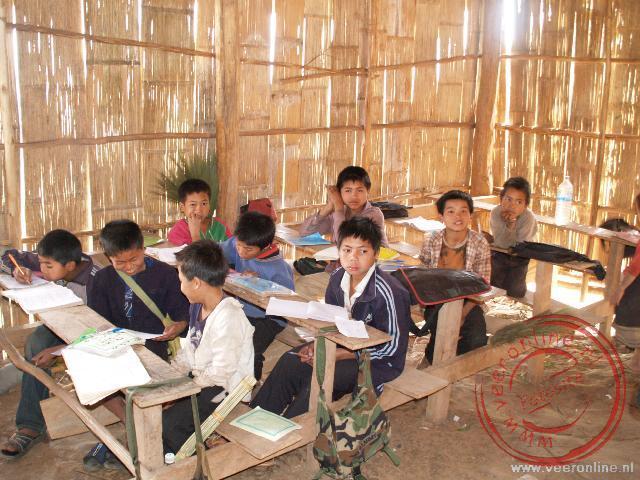 Een schooltje in Ban Sayoudom